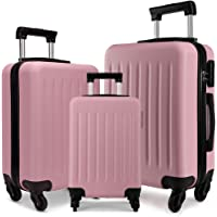 """Kono Suitcase Light Weight Hard Shell ABS 4 Spinner Wheel Travel Trolley Case 19"""" 24"""" 28"""" Luggage"""