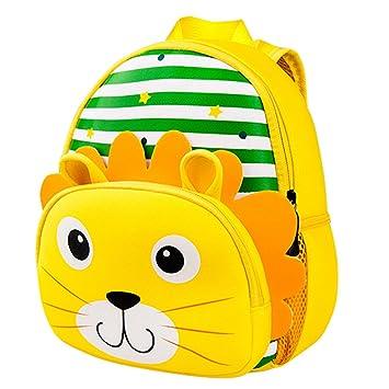Mochila para niños, guardería Infantil Mochila para niños pequeños Mochilas Escolares Boy Girl Kindergarten Animal Cartoon Preescolar Mochila 2-6 años: ...