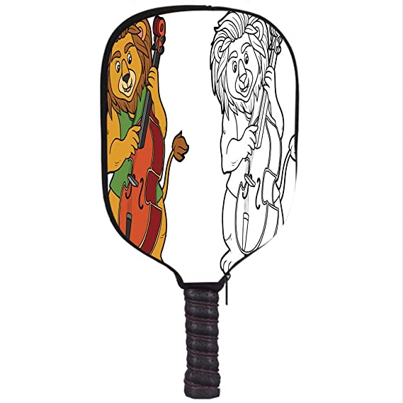 Amazon.com : Neoprene Pickleball Paddle Racket Cover Case/Coloring Book for Children Lion and Cello/Fit for Most Rackets - Protect Your Paddle : Sports & ...