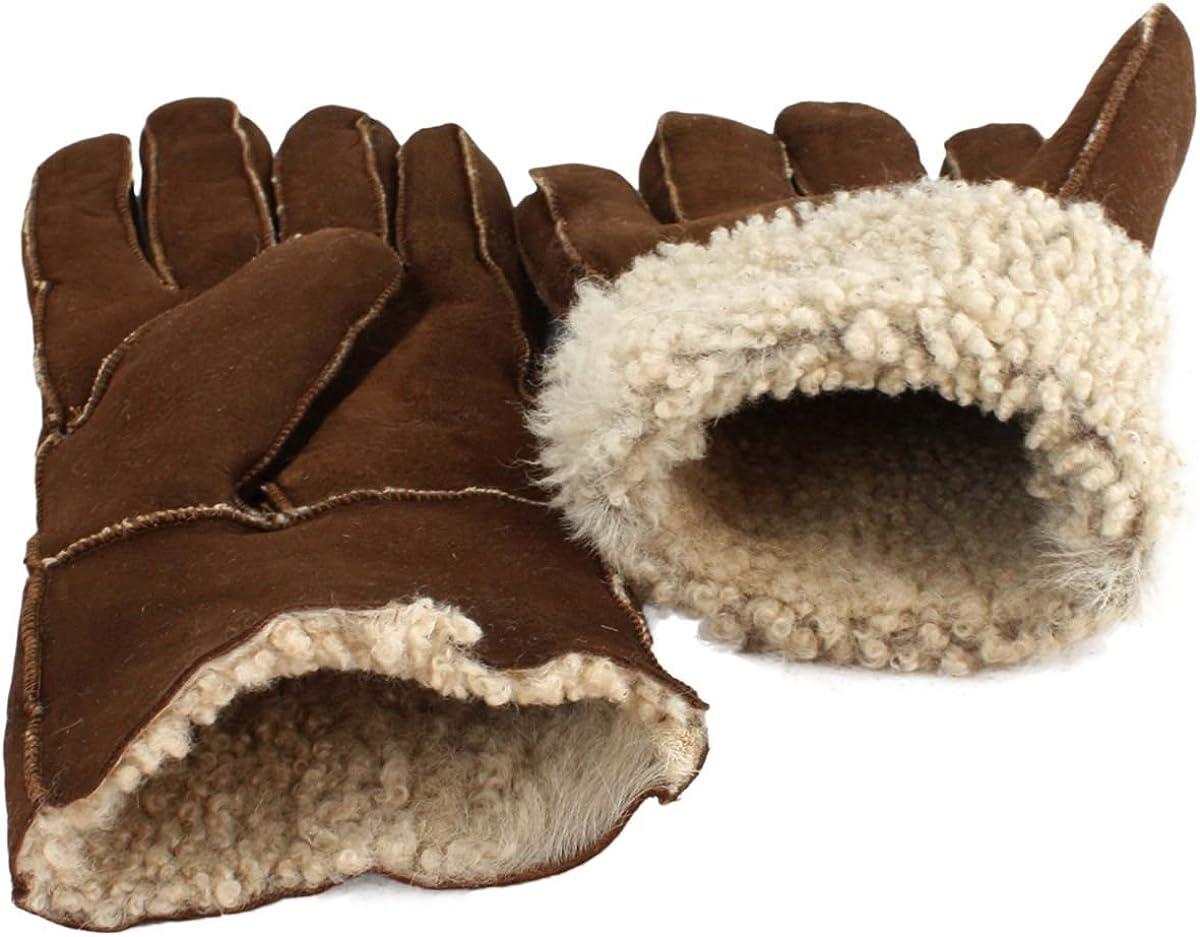 Sonia Originelli Handschuhe Luxus Leder Lammfell Winter Unisex