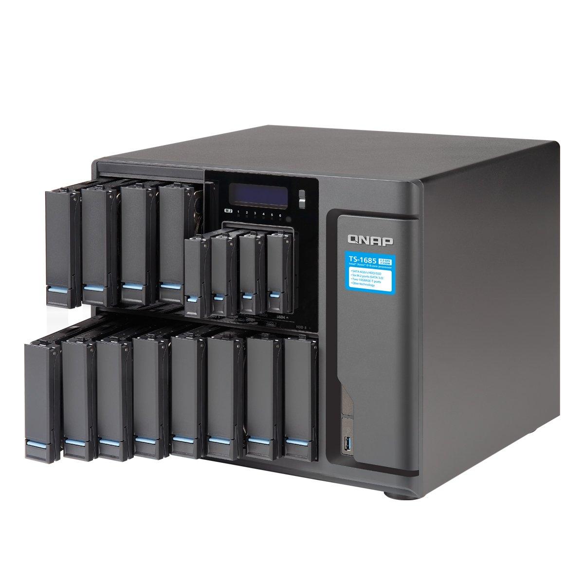 Qnap TS-1685-D1521-16G-US 16 Bay High-Capacity 10GbE iSCSI NAS by QNAP (Image #2)