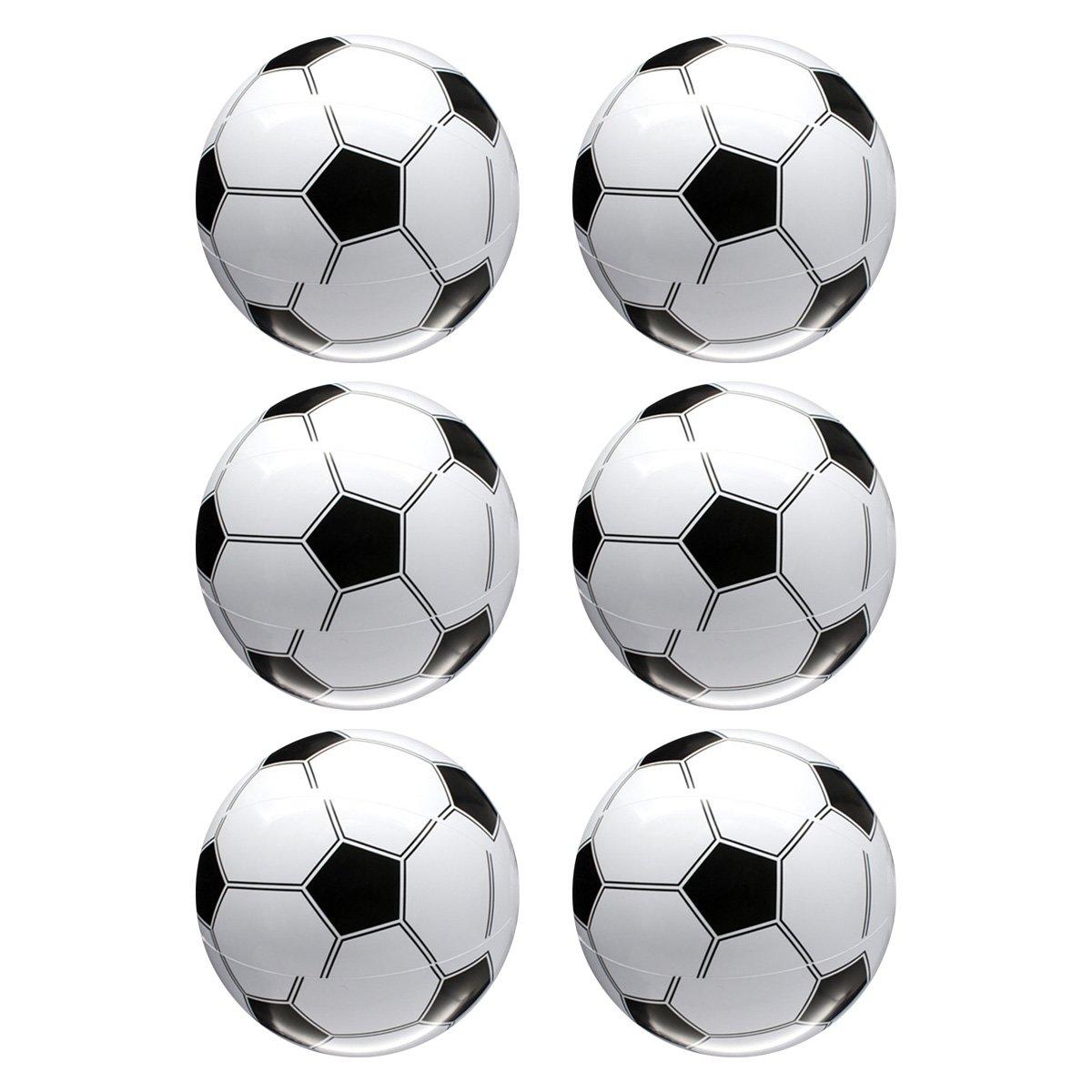 Toyvian Balón de Futbol Inflable Gigante para Niños 6pcs (Blanco y ...
