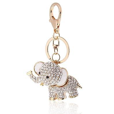 b8aa9a4f890 Handbag Buckle Charms Accessories White Lucky Elephant Keyrings Key Chains  HK4