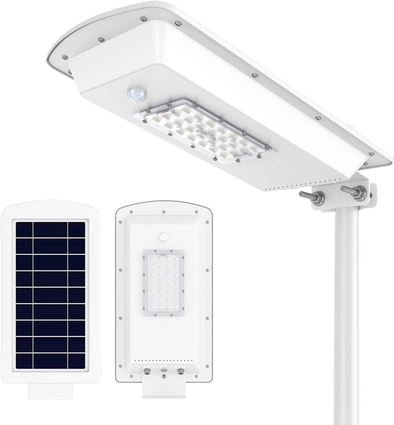 TENKOO LED Solar Street Light Wall Garden Lights, 15W All in One with Motion Sensor Waterproof IP65 Super Bright Security Solar Light Outdoor for Street Gutter Patio Garden Path