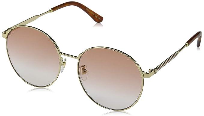 Gucci GG0206SK 004 Gafas de Sol, Dorado (4/Orange), 58 para ...