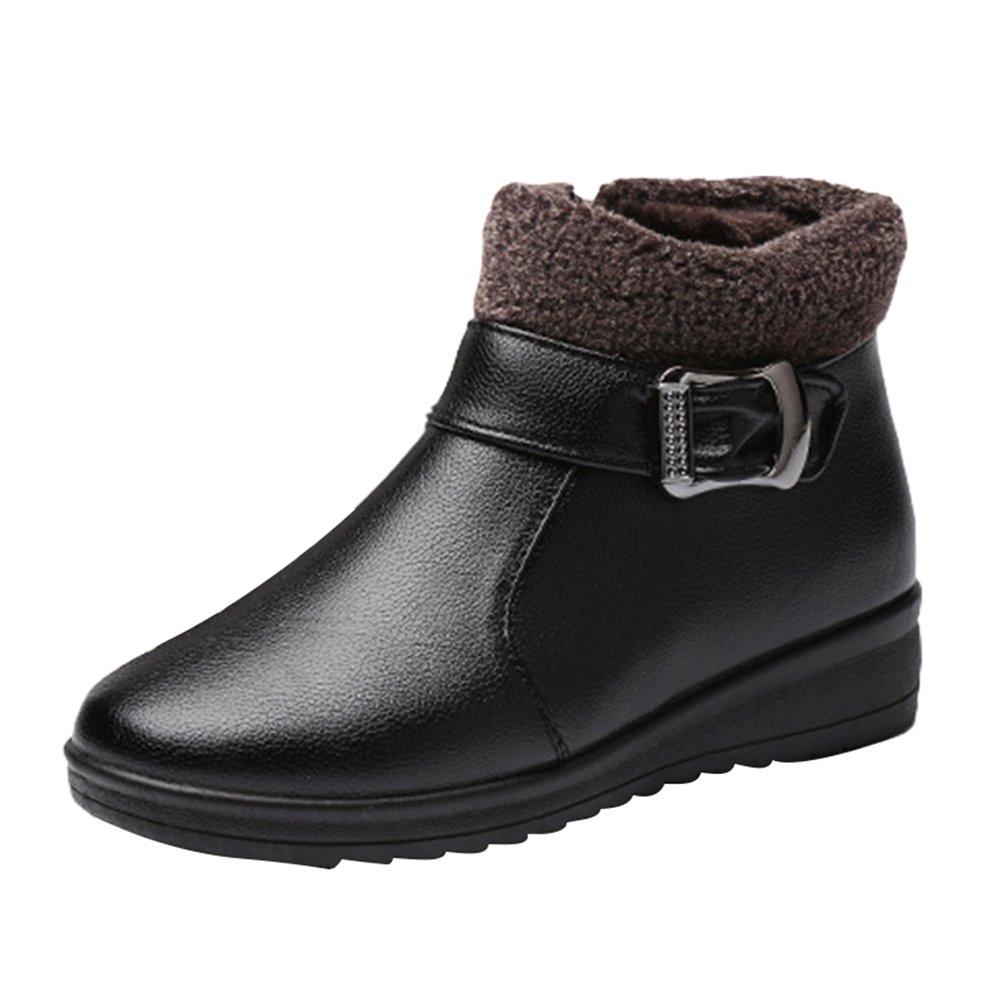 CHENGYANG Femme Chaussures 13460 Noir#1 Femme de Neige Bottes Impermeables Hiver Bottines Chaudes Boots Plates Noir#1 6e1807a - automaticcouplings.space