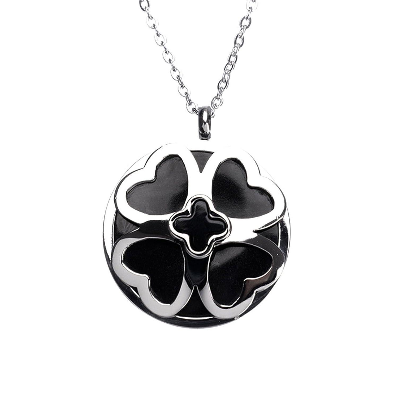 76909e814c1f hardart negro redondo corazón de acero inoxidable colgante en forma de  cruz