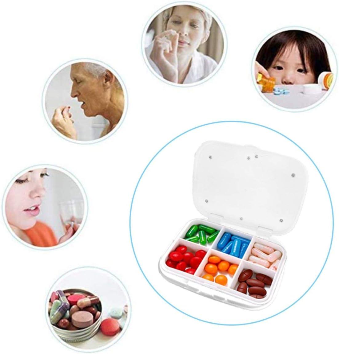 Pumprout Mini Caja de Medicina electr/ónica port/átil Multifuncional con Compartimento extra/íble Caja de Medicina con Alarma electr/ónica