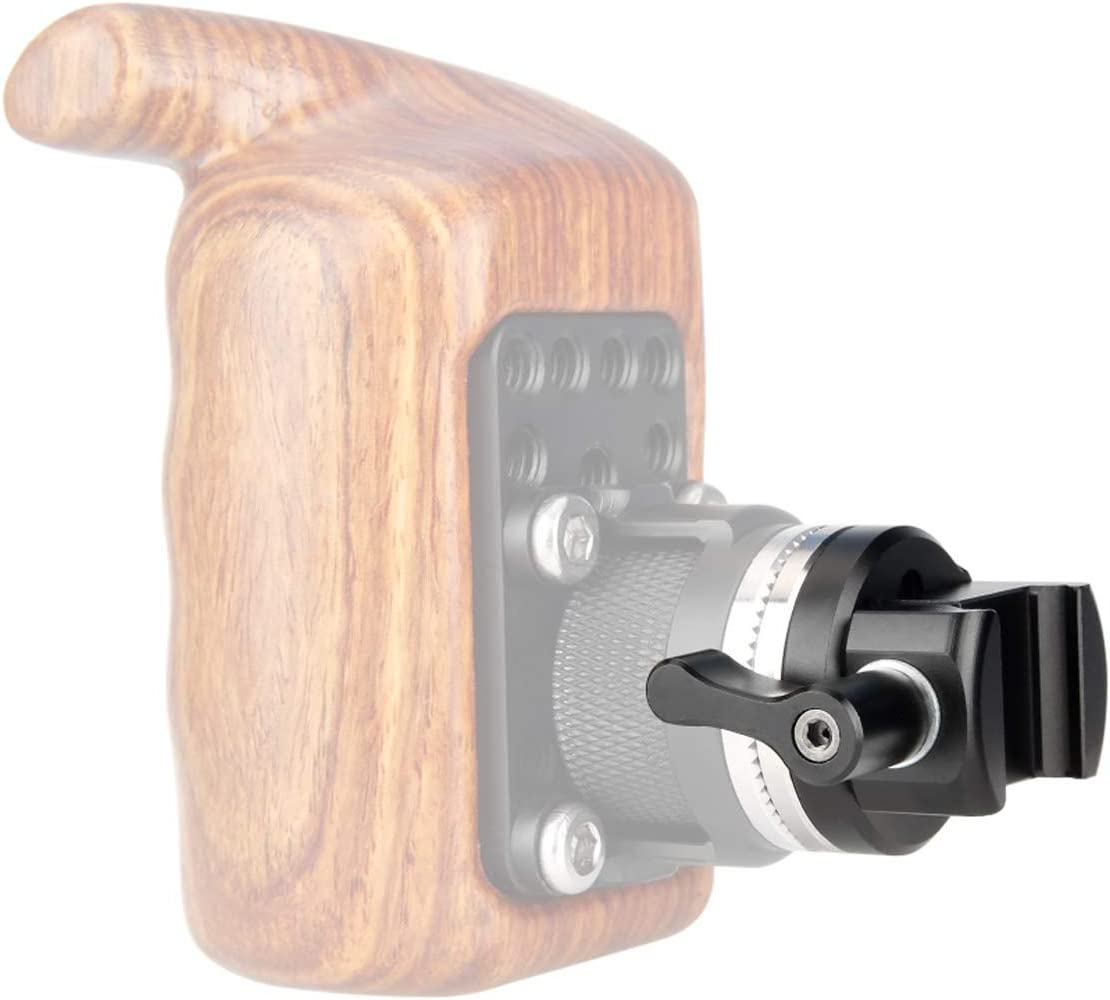 NICEYRIG NATO Clamp to Rosette Mount Adapter Quick Release and Lock Applicable for ARRI Wooden Handgrip M6 Thread Diameter 31.8mm