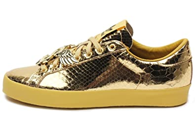 buy online ae9b8 aa6e4 adidas Mens Gold Rod Laver Metal Gold D65861 6.5