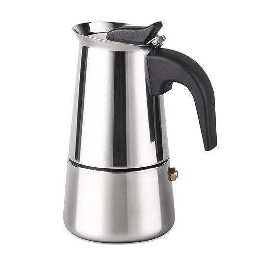 Cafetera de espresso Filtro Cafetera italiana de acero inoxidable ...