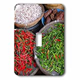 Danita Delimont - Food - Thailand, Chiang Mai. Thai street vendor of green and red Chilies. - Light Switch Covers - single toggle switch (lsp_226027_1)