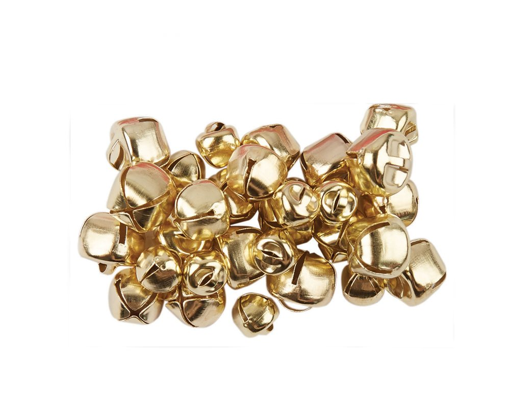 30 Gold Assorted Size Jingle Bells for Crafts 8mm - 12mm Crafty Capers