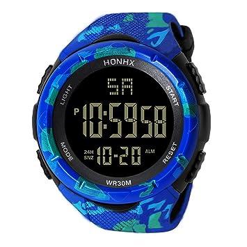 Reloj deportivo digital para hombre – reloj de pulsera militar al aire libre impermeable cronómetro casual