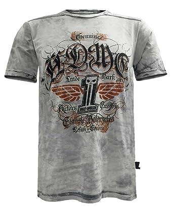 2b65d2cb Harley-Davidson Men's Black Label Grind Short Sleeve Washed T-Shirt, Gray (