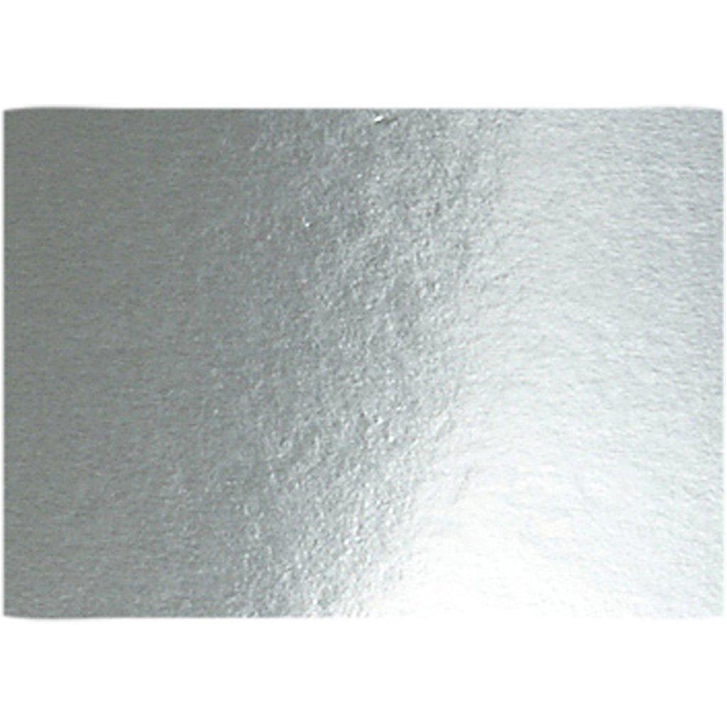 Cartulina metalizada, A4 210x297 mm, 280 gr, plata, 10hoja Creativ Company