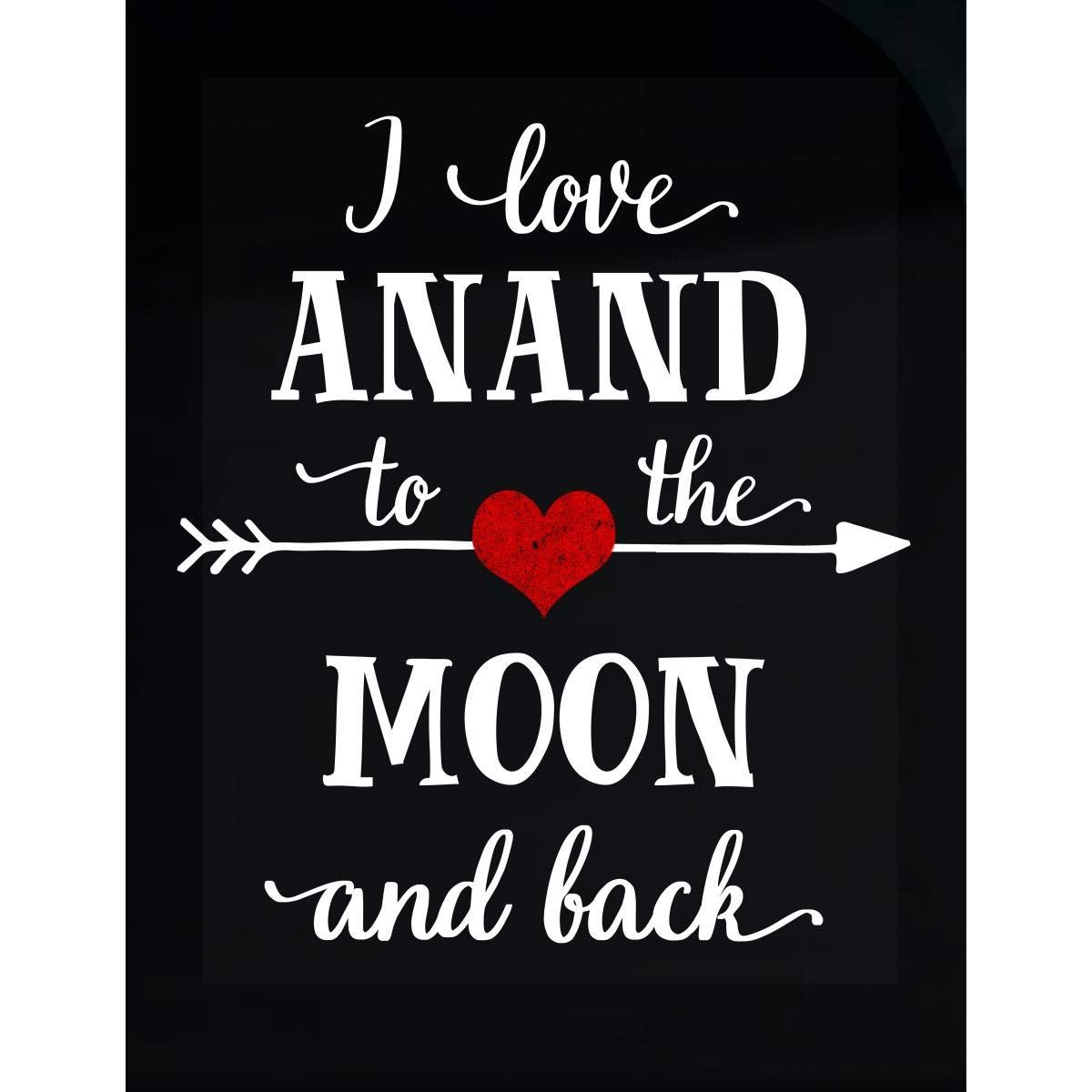 Amazon com inked creatively i love anand to the moon and