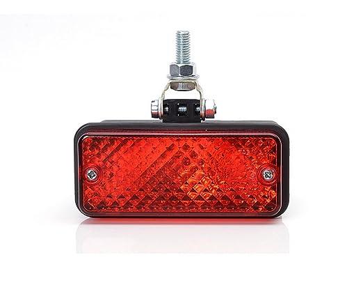 2 x Wei/ß Rot Hinten R/ück und Nebel Leuchte 12V 24V R/ückfahrlicht Licht Nebellicht Nebelleuchte R/ückleuchte Set Paar Birne Auto LKW PKW KFZ ATV G05G06