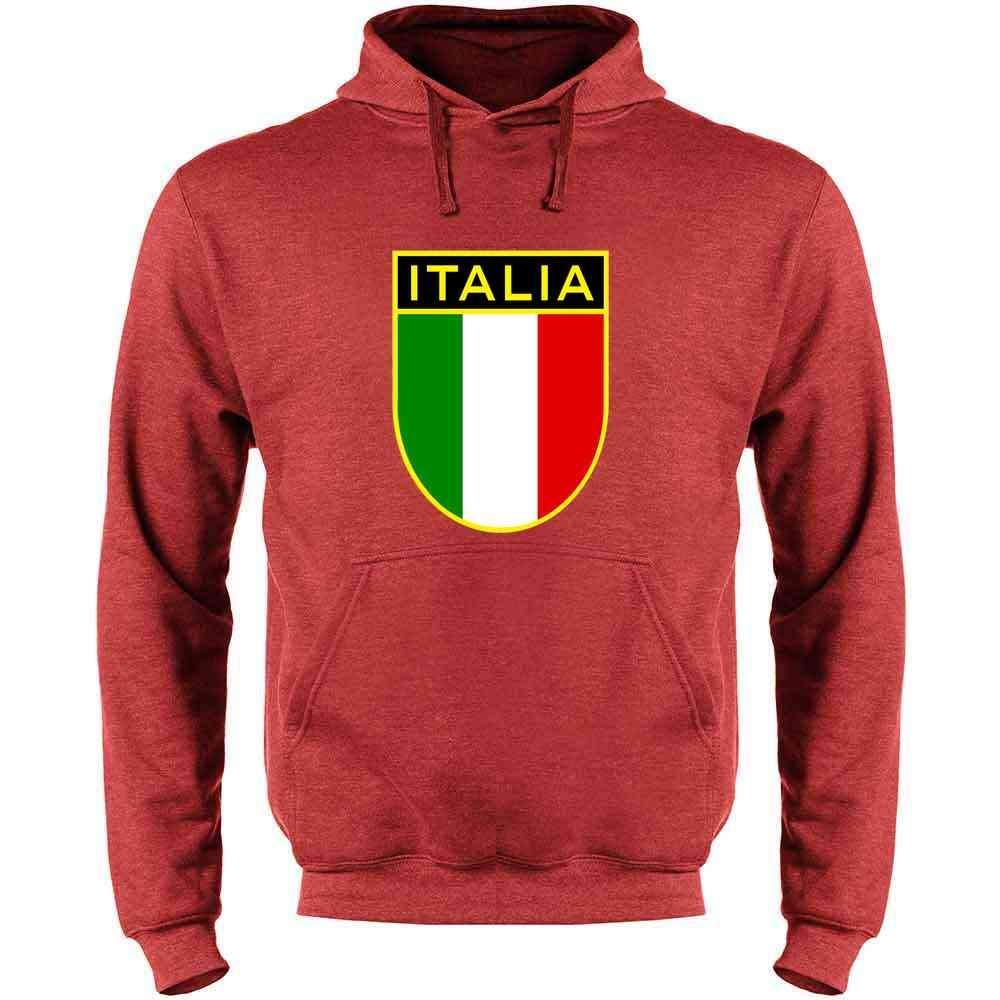 Italy Soccer National Team Retro Crest Mens Fleece Hoodie Sweatshirt