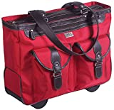 """Clark & Mayfield Marquam 18.4"""" Rolling Laptop Tote (Red)"""