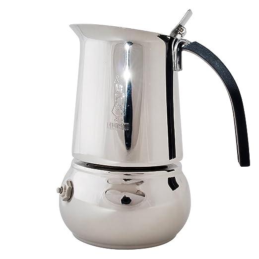 Bialetti Kitty - Cafetera Espresso para 2 Tazas (Acero)