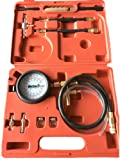 PMD Products Fuel Injection Pump Pressure Tester Test Kit w/ Schrader Valve fitting + Banjo fit Ford and GM