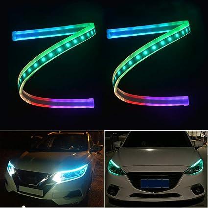 Flexible luces de circulación diurna DRL Tira De Led Neon 2 Piezas