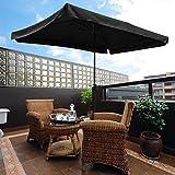 Yescom 10×6.5ft (2x3m) Rectangle Aluminum Outdoor Patio Umbrella w/Valance Sunshade Crank Tilt Market Garden Black Review