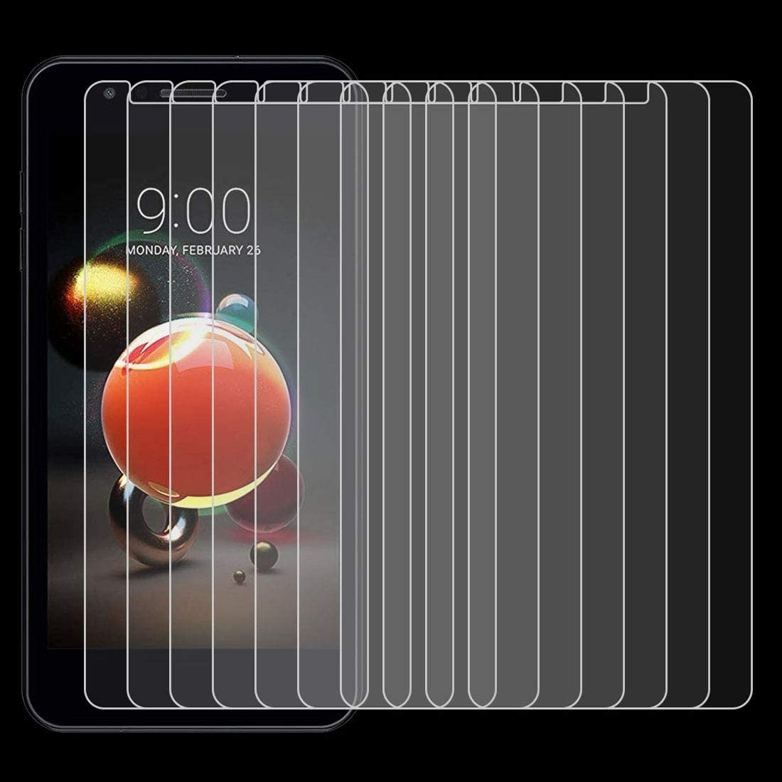 ZYS Screen Protector 100 PCS 0.26mm 9H 2.5D Tempered Glass Film for LG K9