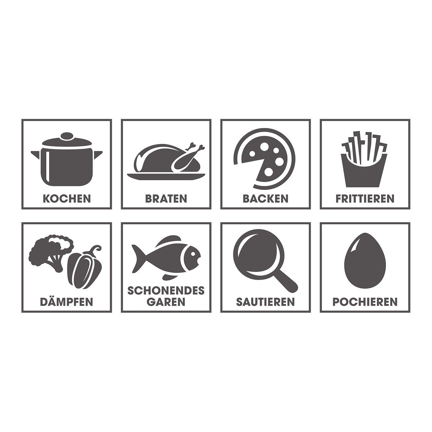 Küchengeräte Liste amazon de gourmetmaxx 03648 multikocher 8 in 1 ersetzt zahlreiche