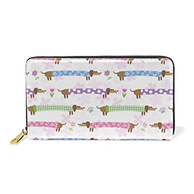 Hot Sale!! Elegant Women Leather Wallet Simple Pink And