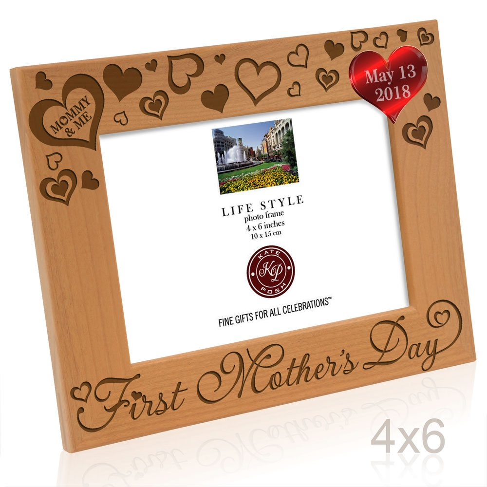 Amazon.com - Kate Posh 2018 First Mother\'s Day Photo Frame ...