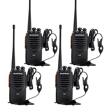 1dca5373616 Amazon.com  Rechargeable Long Range Walkie Talkies UHF 400-470Mhz 16  Channel 2 way Radios with Earpiece (4 Pack)  Beauty