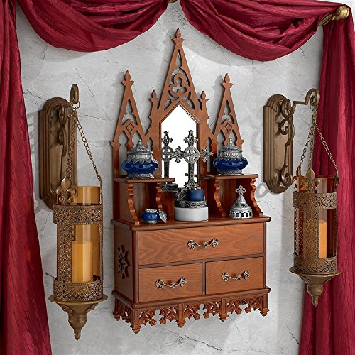 Design Toscano Display Cabinet - Claremont Manor - Wall Mounted Curio Cabinet Wall Mount Curio Cabinets
