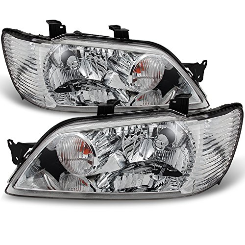 For Mitsubishi Lancer LS ES OZ Models 4Dr Sedan & 5Dr Wagon Clear Headlights Replacement Pair Set
