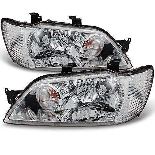 For Mitsubishi Lancer LS ES OZ Models 4Dr Sedan & 5Dr Wagon Clear Headlights Replacement Pair ()