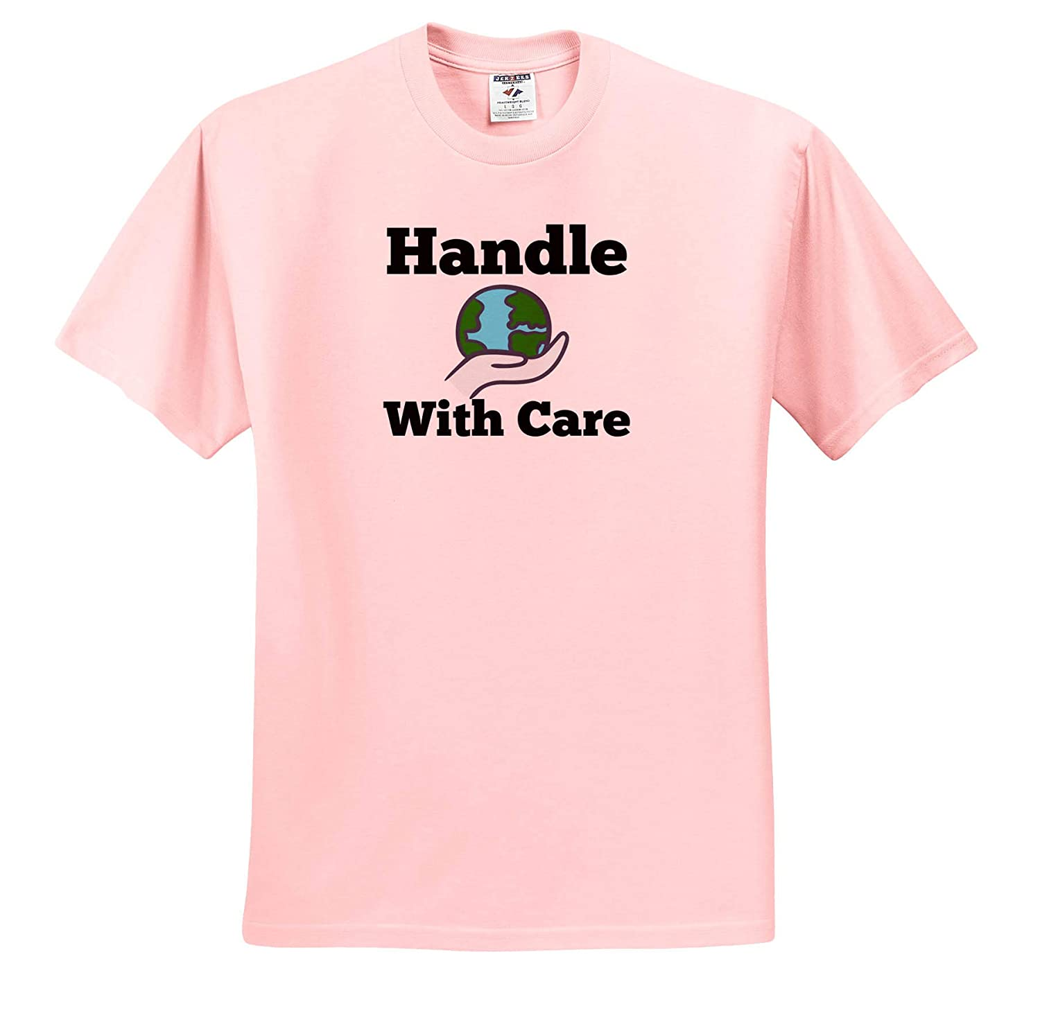 Adult T-Shirt XL Image of Handle with Care ts/_320207 3dRose Carrie Quote Image