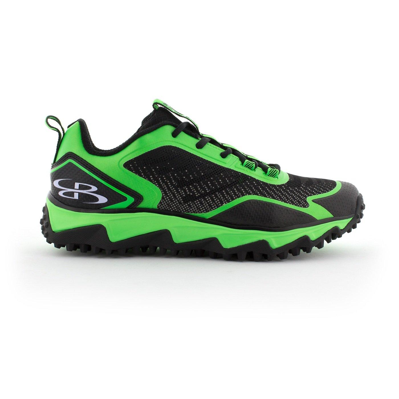 BoombahメンズBerzerk Turf Shoes – 13色オプション – 複数のサイズ B076B27QY9 11|ブラック/ライムグリーン ブラック/ライムグリーン 11