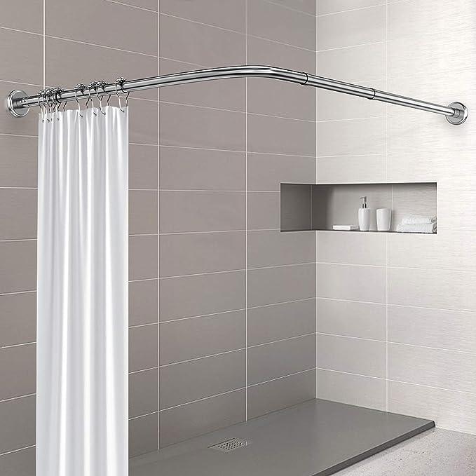 Amazon.com: Varillas de cortina de ducha Misounda, en forma ...