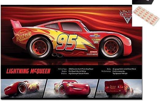 Amazon Com Cars 3 Lightning Mcqueen Stats Poster 91 5 X 61cms