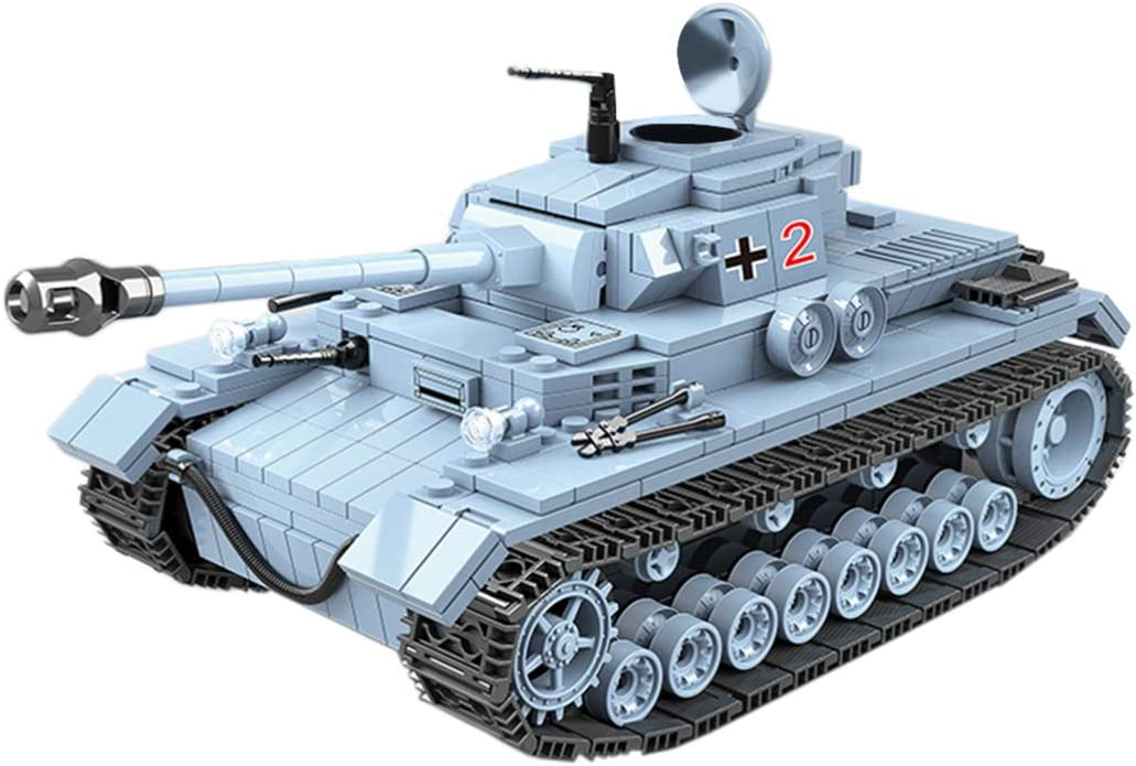 Lingxuinfo Tank Building Kit, 716 Pieces Military Army Tanks Building Block Set Military Tank Vehicle for Kids and Adults Compatible with All Major Brands
