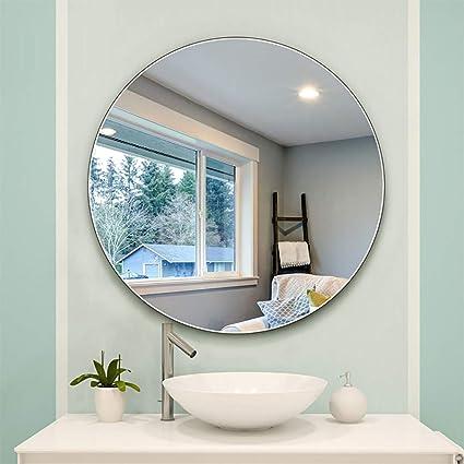 295efe264233 Amazon.com: Round Bathroom Mirror Wall Hanging Frameless Simple ...
