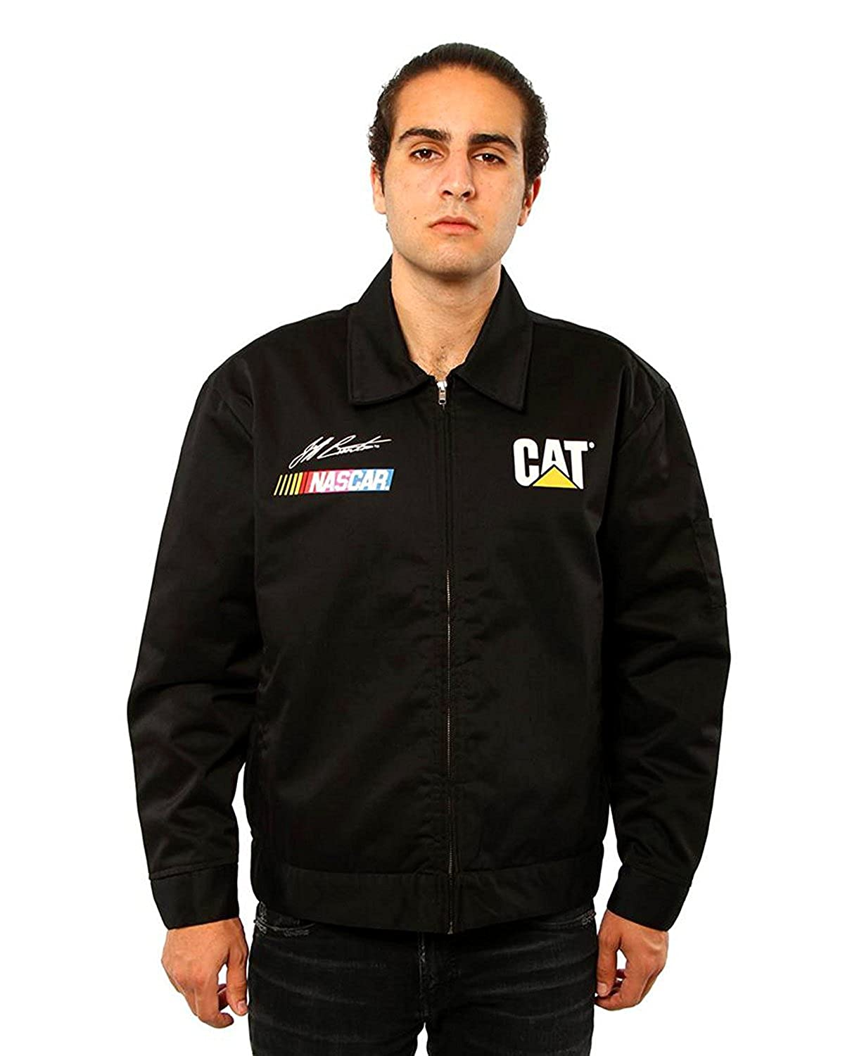 JH Design Men's NASCAR Jeff Burton Caterpillar Racing Mechanics Jacket JBO313MC11