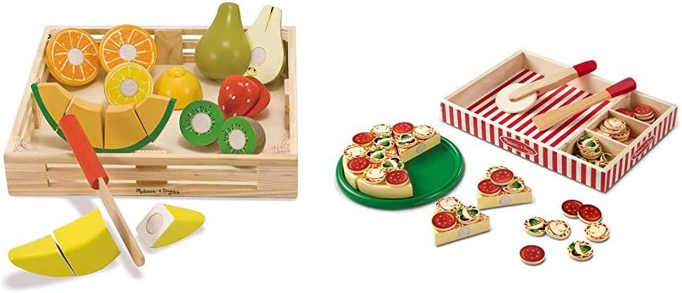 Melissa & Doug Cutting Fruit & Pizza Party Play Set - 63 Pieces