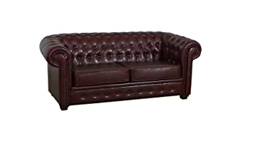 Fantastic Chesterfield Sofa 2 Seater Dark Antique Brown Leather Pabps2019 Chair Design Images Pabps2019Com