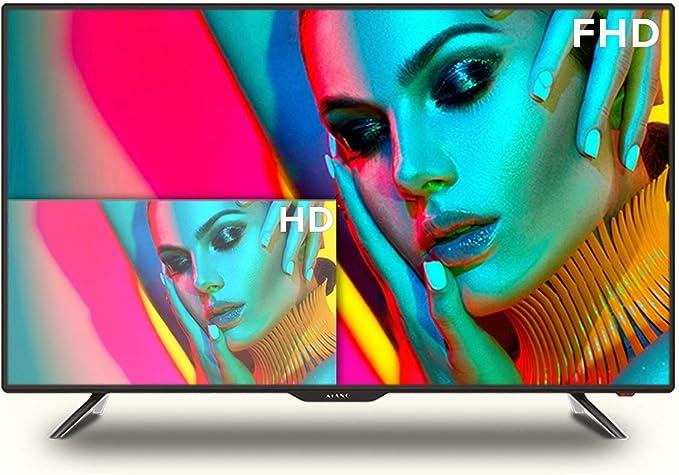 Televisor Kiano Slim TV 40 Pulgadas Smart TV [100 cm Full HD] (Triple Tuner, DVB-T2, Ci+) Android TV, Netflix, Youtube, HBO, Televisor 40