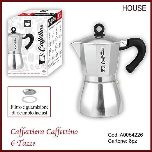 Cafetera caffettino 6 tazas con filtro y Junta de repuesto ...