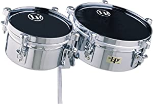 LP Latin Percussion LP845-K - Timbales con casco de acero cromado