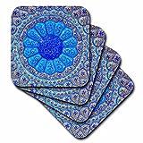 3dRose Danita Delimont - Patterns - Islamic pottery designs. Madaba, Jordan - set of 4 Ceramic Tile Coasters (cst_276920_3)