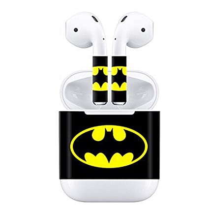 ad04617cc7d Amazon.com: Protective Vinyl Skin Decal for Apple AirPods Charging Case and  Wireless Bluetooth Wrap Cover Sticker Skins (Batman): Computers &  Accessories